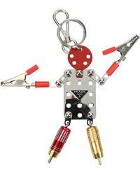 Prada Key Rings Ugo Men Silver - Red