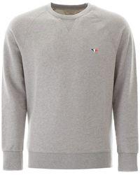 Maison Kitsuné - Sweatshirt With Tricolour Fox - Lyst