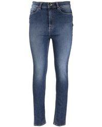 RED Valentino High-waisted Skinny Denim Pants - Blue