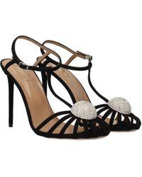 Aquazzura Black Sandals Sublime