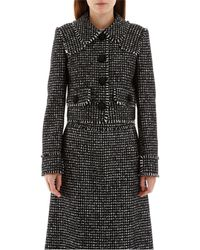 Dolce & Gabbana Houndstooth Jacket - Black