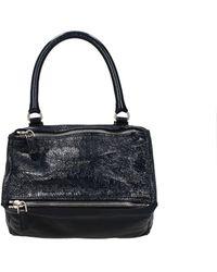 Givenchy Handbags Pandora Patent Leather - Blue