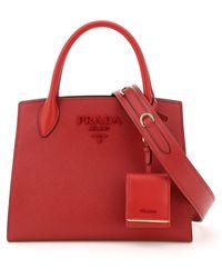 Prada Small Monochrome Handbag - Red