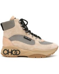 Jimmy Choo Inca Suede Hiking Boots - Multicolour