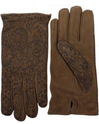 Etro Gloves Men Black - Multicolor