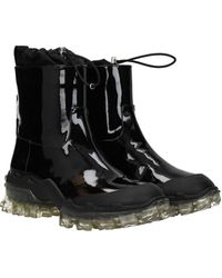 Moncler Ankle Boots Halma Patent Leather - Black
