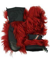 Moncler Gloves Women Red