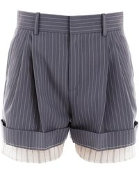Chloé Chloe' Double Layer Shorts - Multicolour