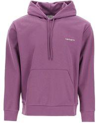 Carhartt Script Embroidery Hoodie - Purple