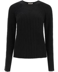 Loulou Studio Hairan Jumper In Linen And Silk Xs Linen,silk - Black