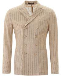 The Gigi ziggy Pinstripe Jacket - Natural