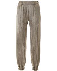 Saint Laurent Lame' jogger Pants - Metallic
