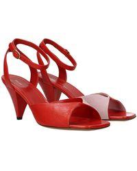 Celine Sandals Leather - Red