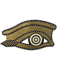 Givenchy Gift Ideas Egyptian Eye Brooch Women Gold - Green