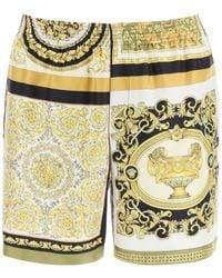 Versace Barocco Mosaic Patchwork Print Shorts - Multicolour