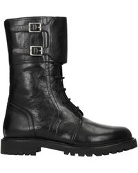 Dior Ankle Boots Ground Leather - Black