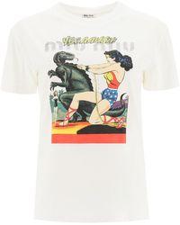 Miu Miu Wonder Woman T-shirt - Multicolour