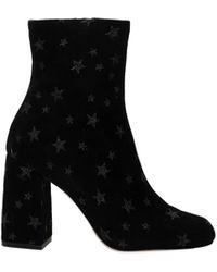 RED Valentino Valentino Garavani Ankle Boots Suede - Black