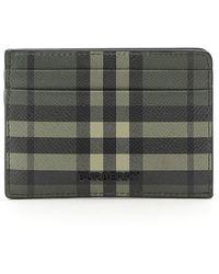 Burberry Calfskin Credit Card Holder - Green