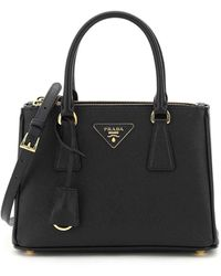 Prada Saffiano Lux Galleria Mini Bag - Black