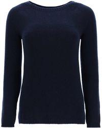 Max Mara Giorgio Cashmere Sweater - Blue