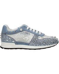 Philipp Plein Sneakers Maddison Fabric - Blue