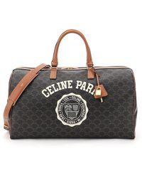 Celine Large Voyage Bag Triomphe Canvas University Logo - Multicolour