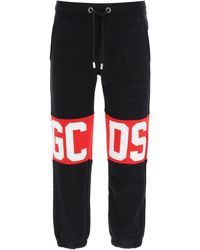 Gcds Jogger Trousers With Logo - Black