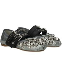 Miu Miu Ballet Flats Leather - Metallic