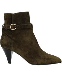 Celine Green Ankle Boots