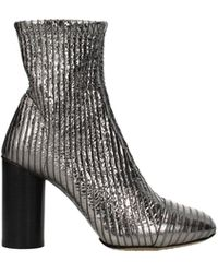 Isabel Marant Ankle Boots Leather - Metallic
