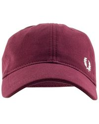 Fred Perry Classic Pique Cap - Red