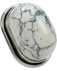 Saint Laurent White Rings