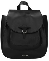 Pollini Backpacks And Bumbags Leather - Black