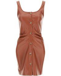 Nanushka Ernie Dress In Vegan Leather - Brown