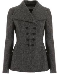 Dior Tweed Blazer - Gray