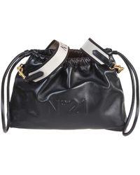 "N°21 N ° 21 ""eva"" Bucket Bag In White Eco-leather - Black"