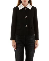 Prada Crystal-embellished Jacket - Black