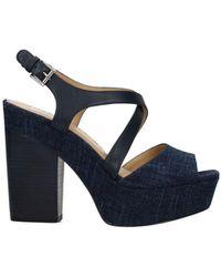 Michael Kors Sandals Abbott Leather - Blue