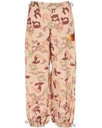 The Attico Camouflage Sports Trousers - Pink