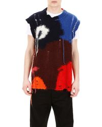 Alexander McQueen Multicolour Sleeveless Knit - Red
