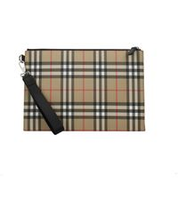 Burberry Beige Clutches - Natural