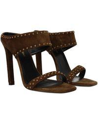 Saint Laurent Sandals Mica Suede - Brown