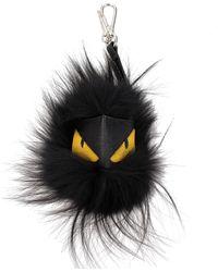 Fendi Key Rings Mostro Cubo - Black