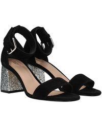 RED Valentino Valentino Garavani Sandals Suede - Black