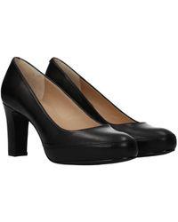 Unisa Court Shoes Numar Leather - Black