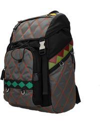 Prada Grey Backpack And Bumbags