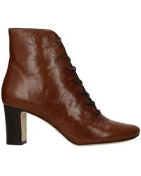 Tory Burch Ankle Boots Vienna Leather Coconut - Brown