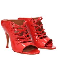 Givenchy Sandals Patent Leather - Red
