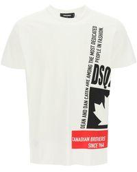 DSquared² Dsq2 Print T-shirt L Cotton - White